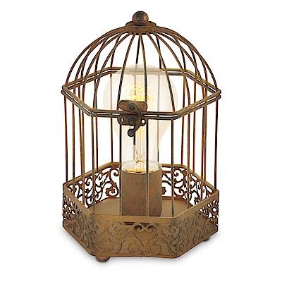 EGLO歐風燈飾 歐風金鳥籠造型檯燈/床頭燈(不含燈泡)