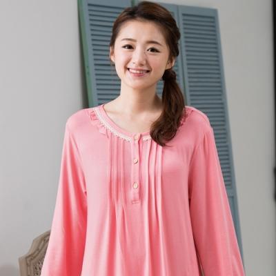 華歌爾睡衣-EKS發熱 M-L 長袖裙裝(桃粉)睡眠研究
