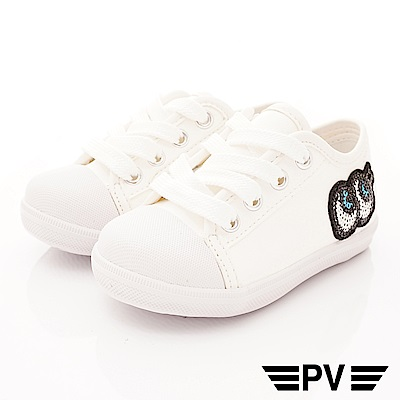 PV日系私藏 大眼睛時尚休閒鞋款 P-823白(中小童段)