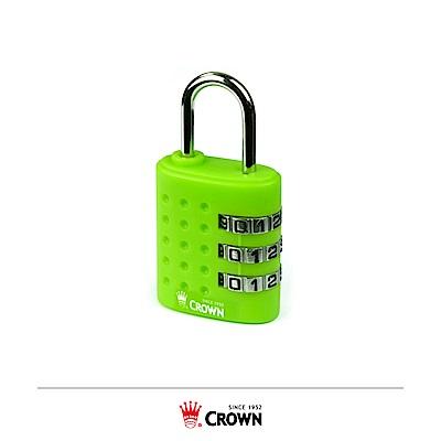 CROWN 皇冠 三碼密碼鎖 鎖頭掛鎖 綠色