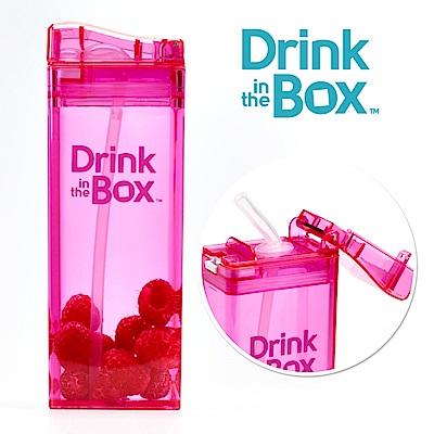 加拿大Drink in the box 兒童戶外方形吸管杯(大)-355ml-糖果粉