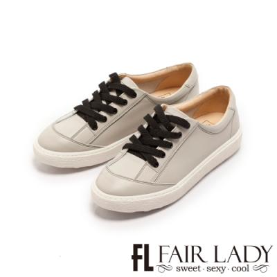 FAIR LADY SoftPower軟實力免綁鞋帶波浪厚底休閒鞋灰