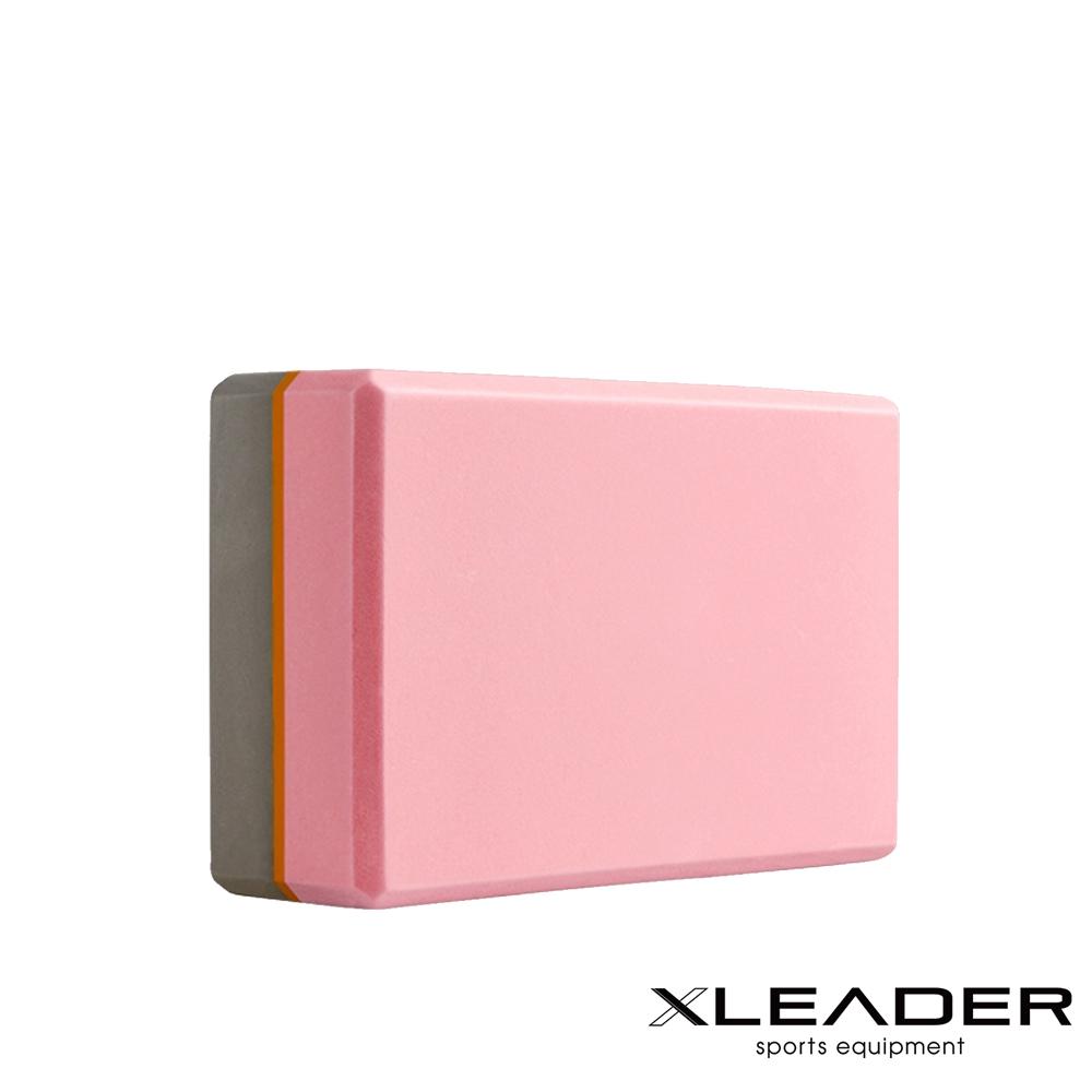 Leader X 環保EVA高密度防滑 亮彩撞色瑜珈磚 粉膚灰