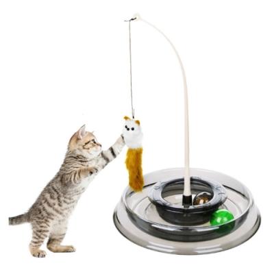 【寵愛有家】逗貓棒旋轉盤貓咪玩具(寵物玩具)
