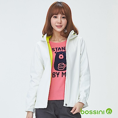 bossini女裝-機能複合外套01灰白