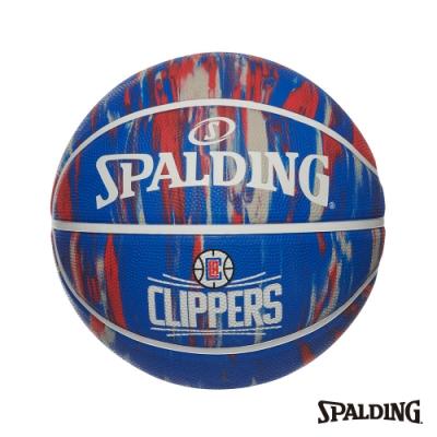SPALDING 斯伯丁 NBA 隊徽球 大理石印花系列-快艇 RUBBER 籃球 7號