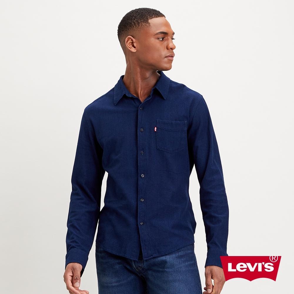 Levis 男款 牛仔襯衫 精工原色藍染工藝 修身版型
