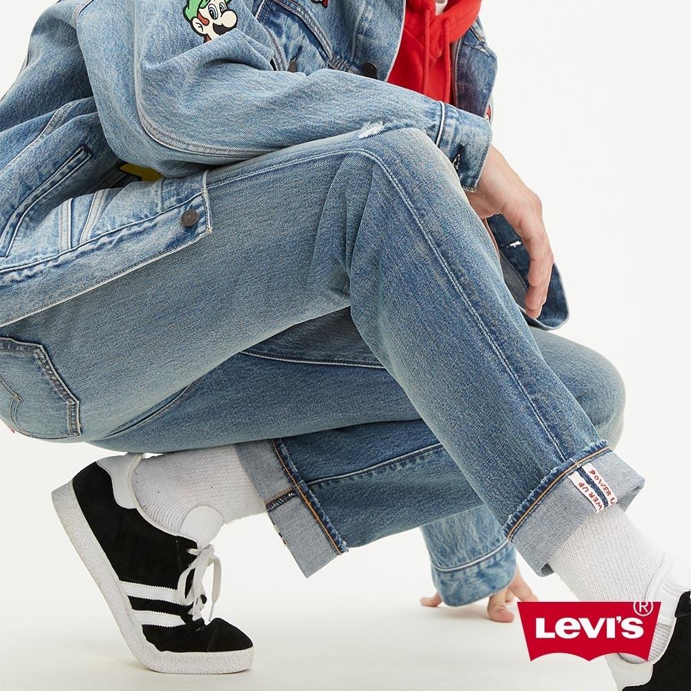 Levis X Super Mario限量聯名 男款 501 93復刻版排釦直筒牛仔褲 瑪莉歐赤耳 專屬皮牌