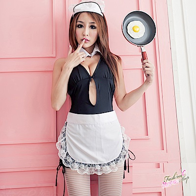角色扮演女僕裝 深V爆乳性感女傭制服COSPLAY服裝表演服 流行E線