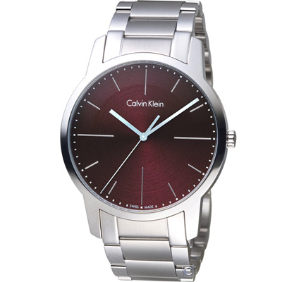 Calvin Klein CK  都會系列簡約時尚腕錶(K2G2G14P)紅/43mm