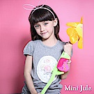 Mini Jule  上衣 網紗珠珠花圈公主袖短袖上衣(灰)