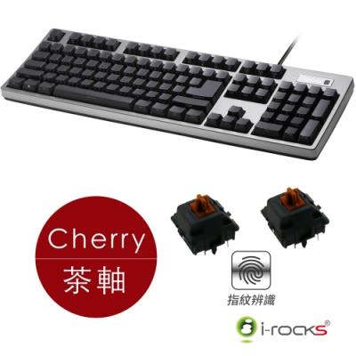 irocks K68MNF 側刻無背光 指紋辨識 機械式鍵盤-Cherry茶軸