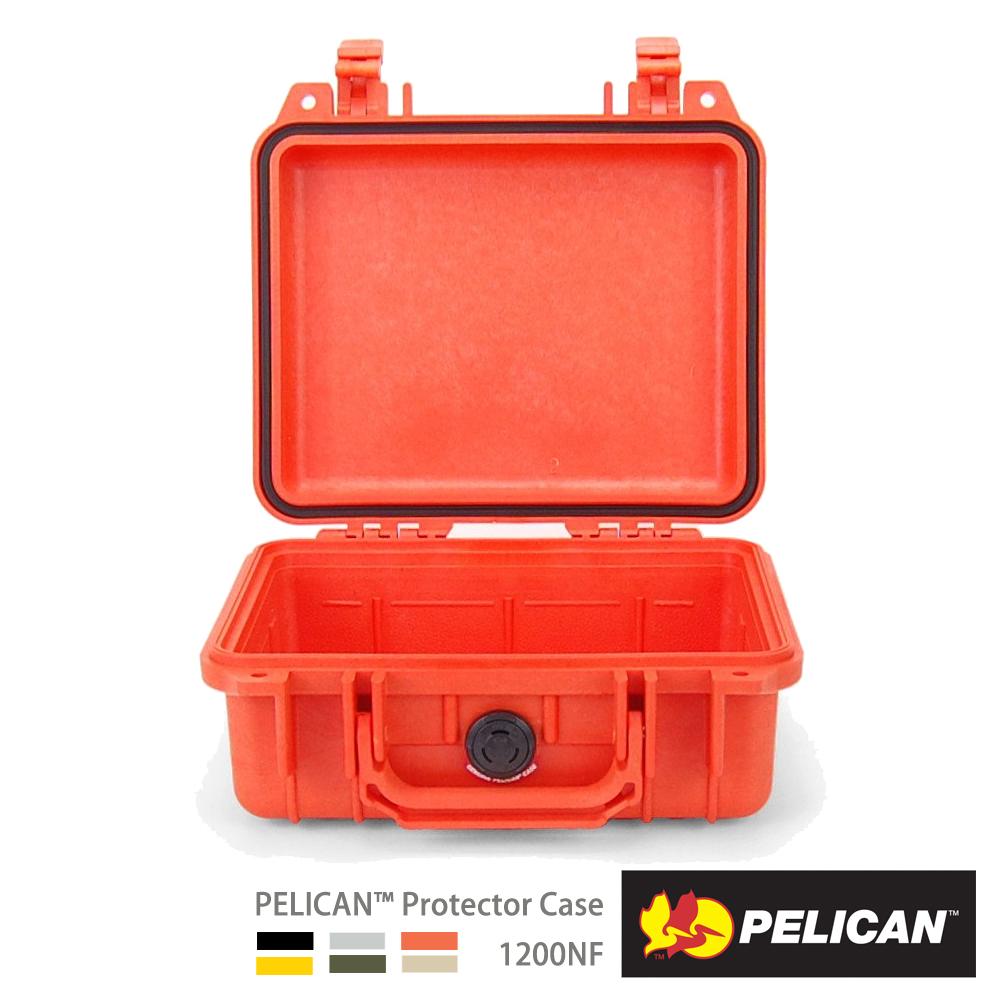 美國 PELICAN 1200NF 氣密箱-空箱(橘)