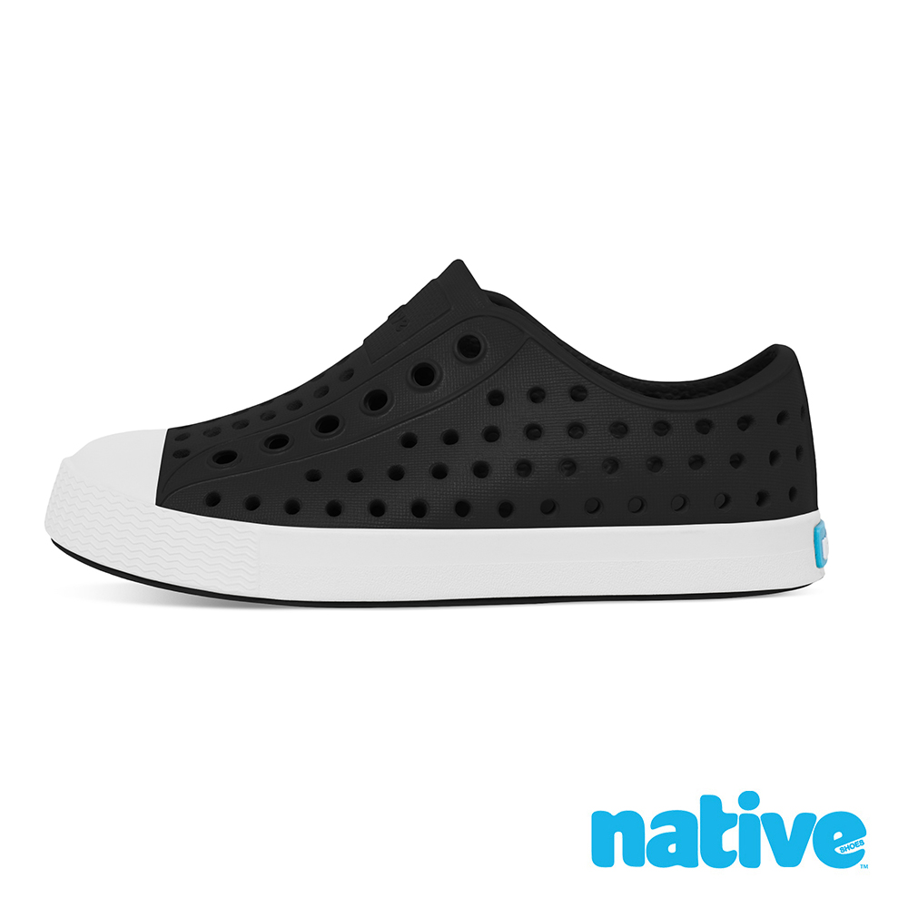 native 小童鞋 JEFFERSON 小奶油頭鞋-瞬黑x貝殼白