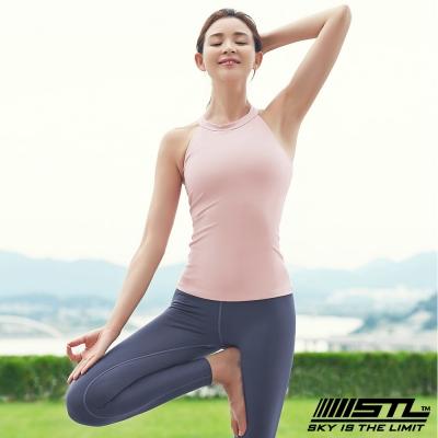 STL yoga Bra T SS Shirts Tint 韓國 運動機能訓練背心上衣(含胸墊)tint寶寶粉