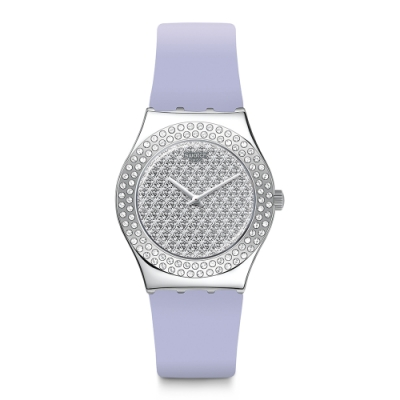 Swatch I Medium Standard 金屬系列手錶 淡紫花語-33mm