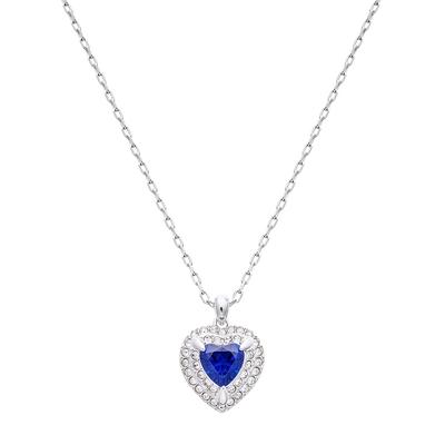 SWAROVSKI施華洛世奇ONE 藍水晶心型項鍊