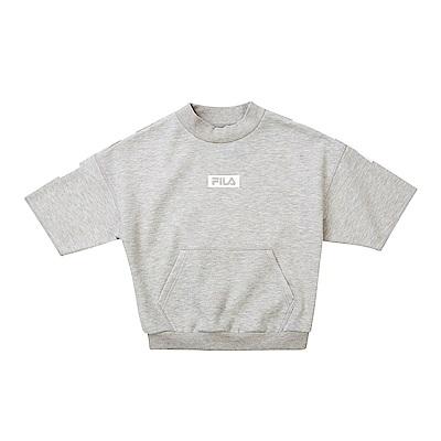FILA KIDS #漢城企劃 童 針織上衣-麻灰 5TET-4415-MY