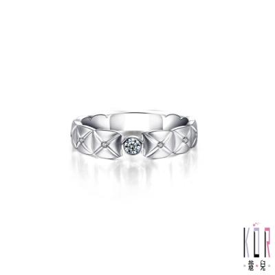 K OR蔻兒 典藏幸福鑽石/白鋼女戒指