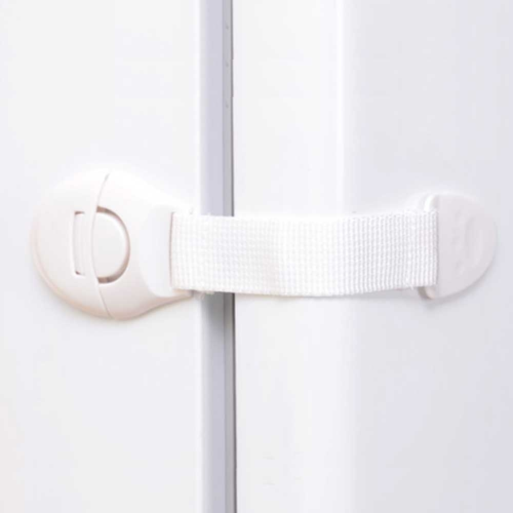 (5入)冰箱 抽屜 轉角門櫃 雙門 自黏按壓卡扣式安全鎖 安全扣 門扣 抽屜鎖 防開鎖