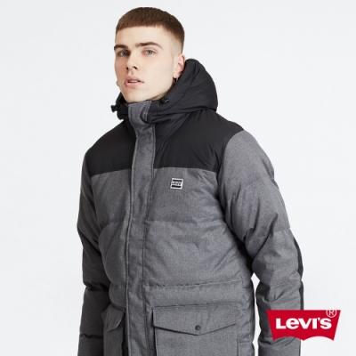 Levis 男款 連帽羽絨外套 簡約灰 600FP 羽絨填充百分之80