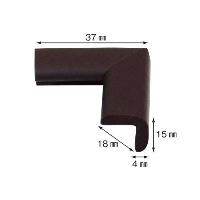 【日本CAR-BOY】尖角防護軟墊(極細)(棕)(幫危險尖角加上柔軟防護)