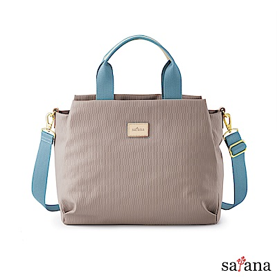 satana - Lady First 打理摺學手提包 - 玫瑰棕