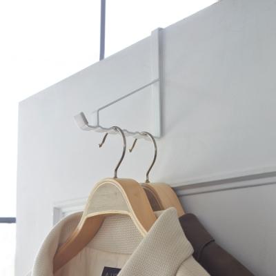 日本YAMAZAKI-smart門後6格掛勾(白)★居家收納/免鑽牆