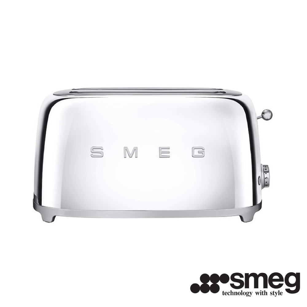 義大利SMEG  四片式烤麵包機- 閃亮銀 TSF02SSTW