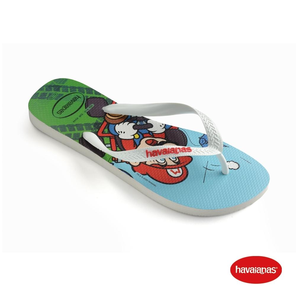 Havaianas 哈瓦仕 拖鞋 夾腳拖 人字拖 巴西 童鞋 兒童 白 4140269-0198K Kids Mario Bros 馬力歐兄弟