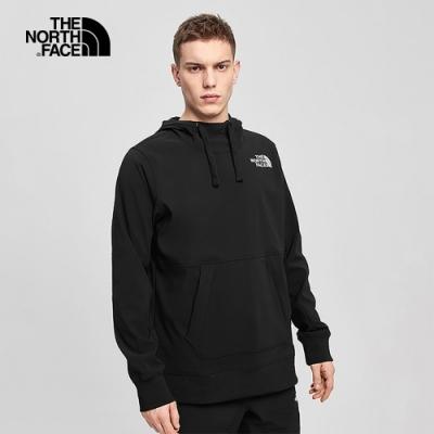 The North Face北面男款黑色防潑水連帽T恤|4VVUJK3