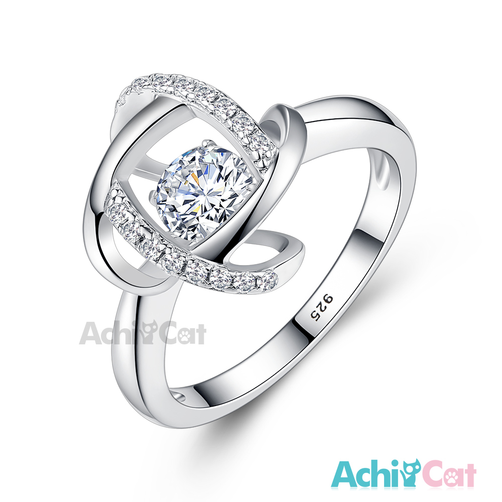 AchiCat 925純銀 跳舞的戒指 浪漫交錯 跳舞石 @ Y!購物