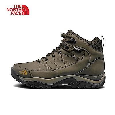 The North Face北面男款棕色防水雪地保暖登山靴|2T3SNMD