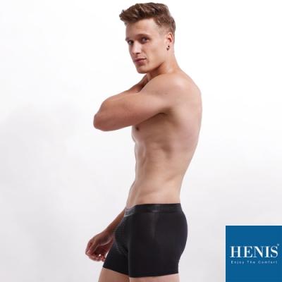 HENIS FORCE磁石原力 透氣機能 能量四角褲 (黑)