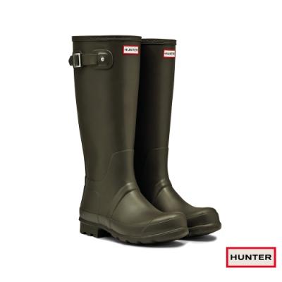 HUNTER - 男鞋-霧面長靴 - 橄欖色