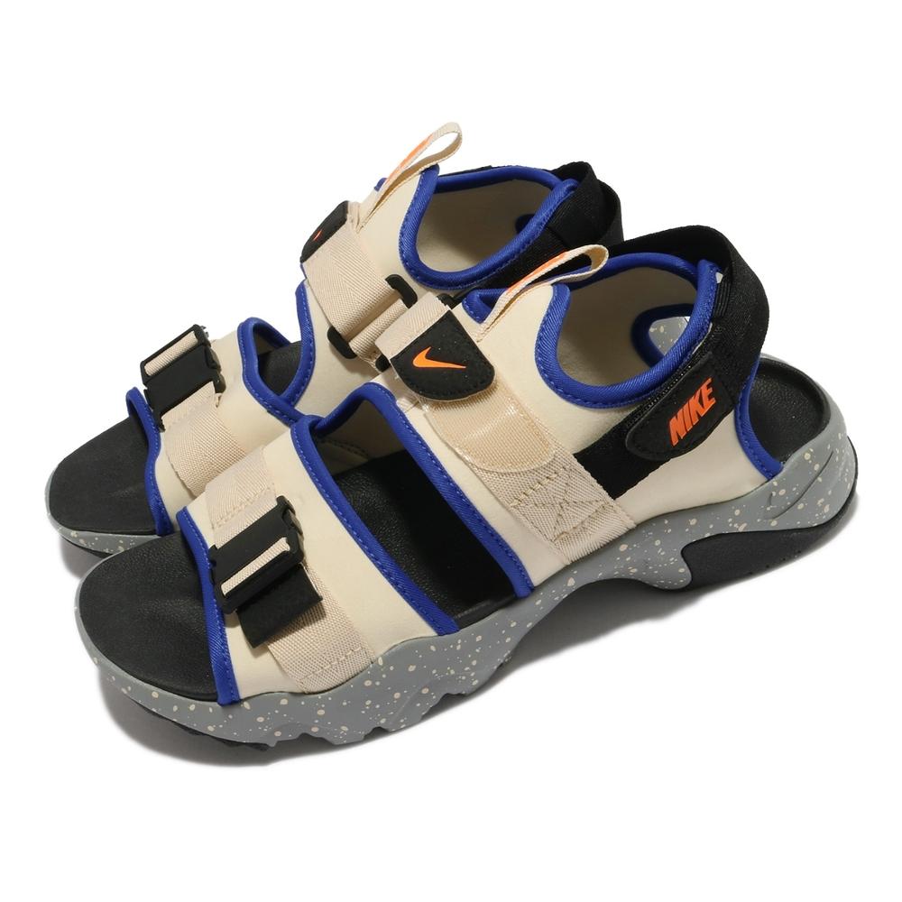 Nike 涼鞋 Canyon Sandal 男女鞋 基本款 魔鬼氈 情侶穿搭 夏日 米白 灰 CI8797202