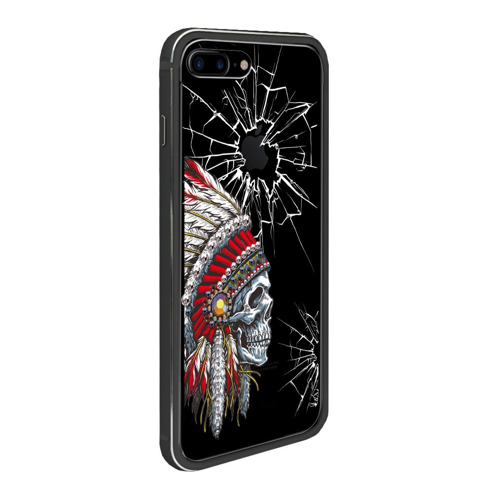 apbs iPhone 8 / 7 Plus 5.5吋施華彩鑽鋁合金屬框手機殼-消光黑酋長 @ Y!購物