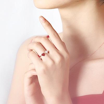 梨花HaNA 韓國925銀甜美氣質愛情來了戒指開口