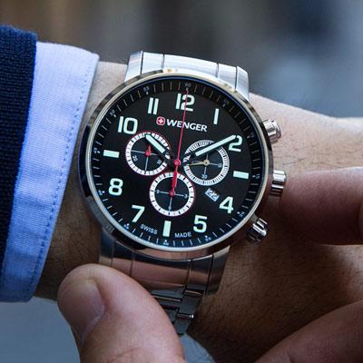 WENGER Attitude 頂尖對決 計時腕錶(01.1543.102)44mm