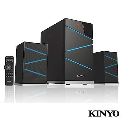 (福利品)KINYO 2.1聲道遙控全木質讀卡音箱KY1603