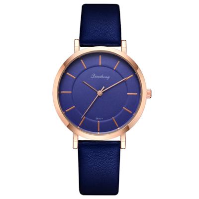 Watch-123 優雅復刻玫金框簡約時標手錶 (2色任選)
