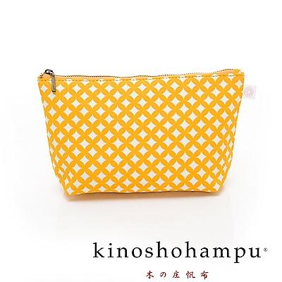 kinoshohampu 貴族和柄帆布化妝包 七寶黃