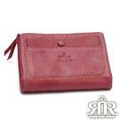 2R 溫柔鬆軟Leather羊皮短夾 甜梅紫