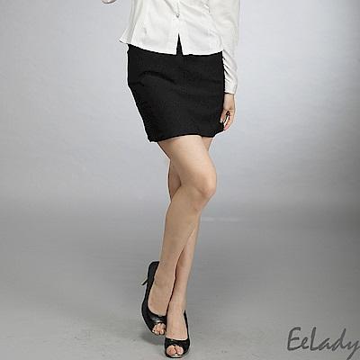OL台製腰扣環雙口袋西裝裙-EELADY