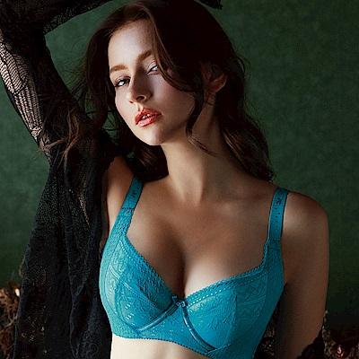 推Audrey-邂逅大胸湧 大罩杯E-G罩內衣(孔雀藍)