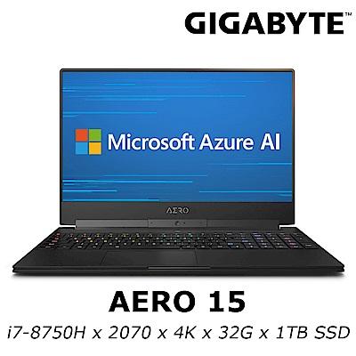 GIGABYTE AERO 15 電競筆電 i7-8750H/RTX2070 8G