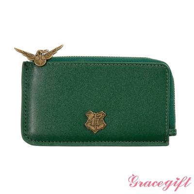 Grace gift-哈利波特史萊哲林學院徽章票卡短夾 綠