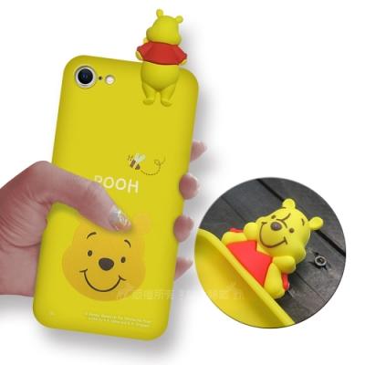 迪士尼授權正版 iPhone SE 2020/SE2 趴姿公仔手機殼 親膚軟殼(維尼)