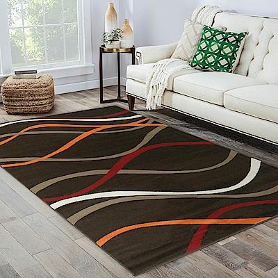 Ambience 比利時Shiraz 時尚地毯-水波咖 160x230cm