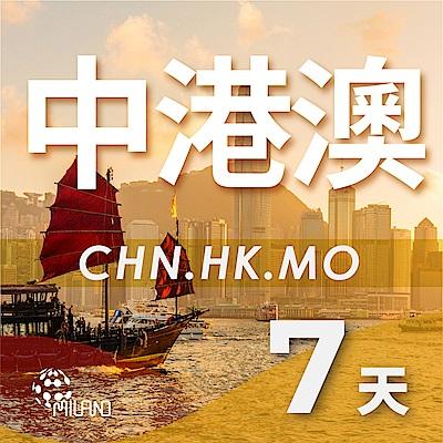 【PEKO】中港澳上網卡 7日高速4G上網 無限量吃到飽 優良品質高評價 快速到貨